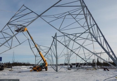 Manitoba Hydro Tower Collapse Leads to Stop Work Order