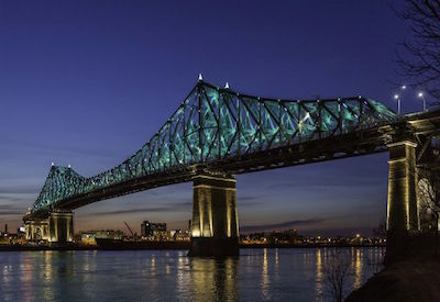 Jacques Cartier Bridge, illuminated