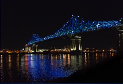 Jacques-Cartier Bridge illuminated with Philips Architectural Lighting