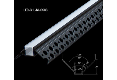 Corner LED Tape Mud-In Channels