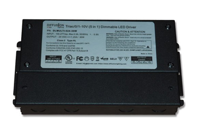 Diffusion DLMULTI-024-30W Dimmable LED Driver