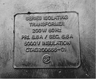 Codes Transformer Nameplate